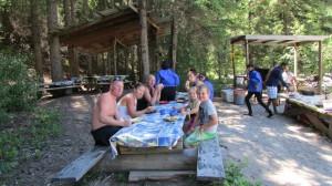 white water rafting golden free camping